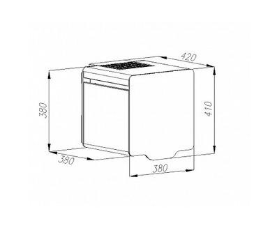 Вытяжка Maunfeld BOX QUADRO 40 белый