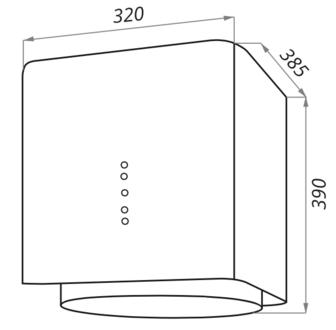 Вытяжка Maunfeld BOX FLASH 32 белый