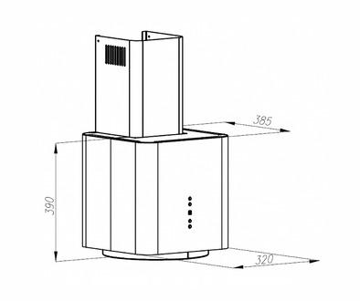 Вытяжка Maunfeld BOX FLASH 32 черный
