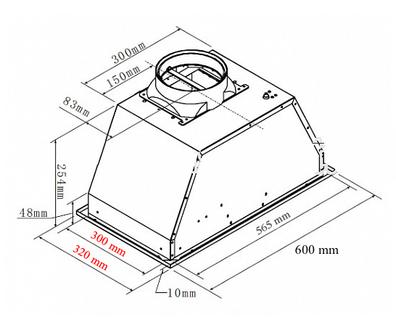 Вытяжка Maunfeld Crosby Push-2 60  нержавейка