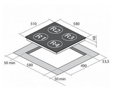 Индукционная панель MAUNFELD MPI 58 BCTL B