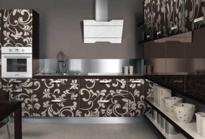 Вид кухни с вытяжкой Maunfeld Tweed Modern White